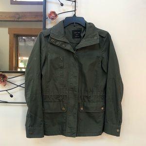 Love Tree Army Green Zip Utility Jacket